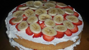 Layered Bananas and Strawberries