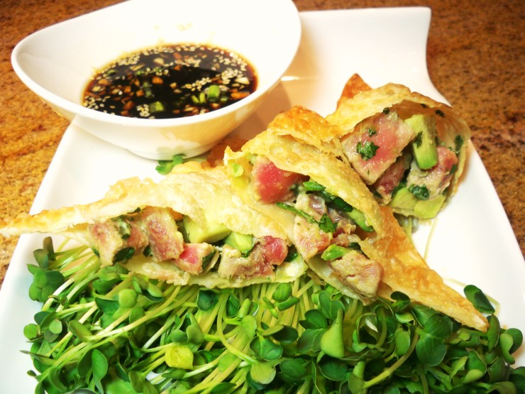 Hot & Spicy Wonton Tuna Tartare