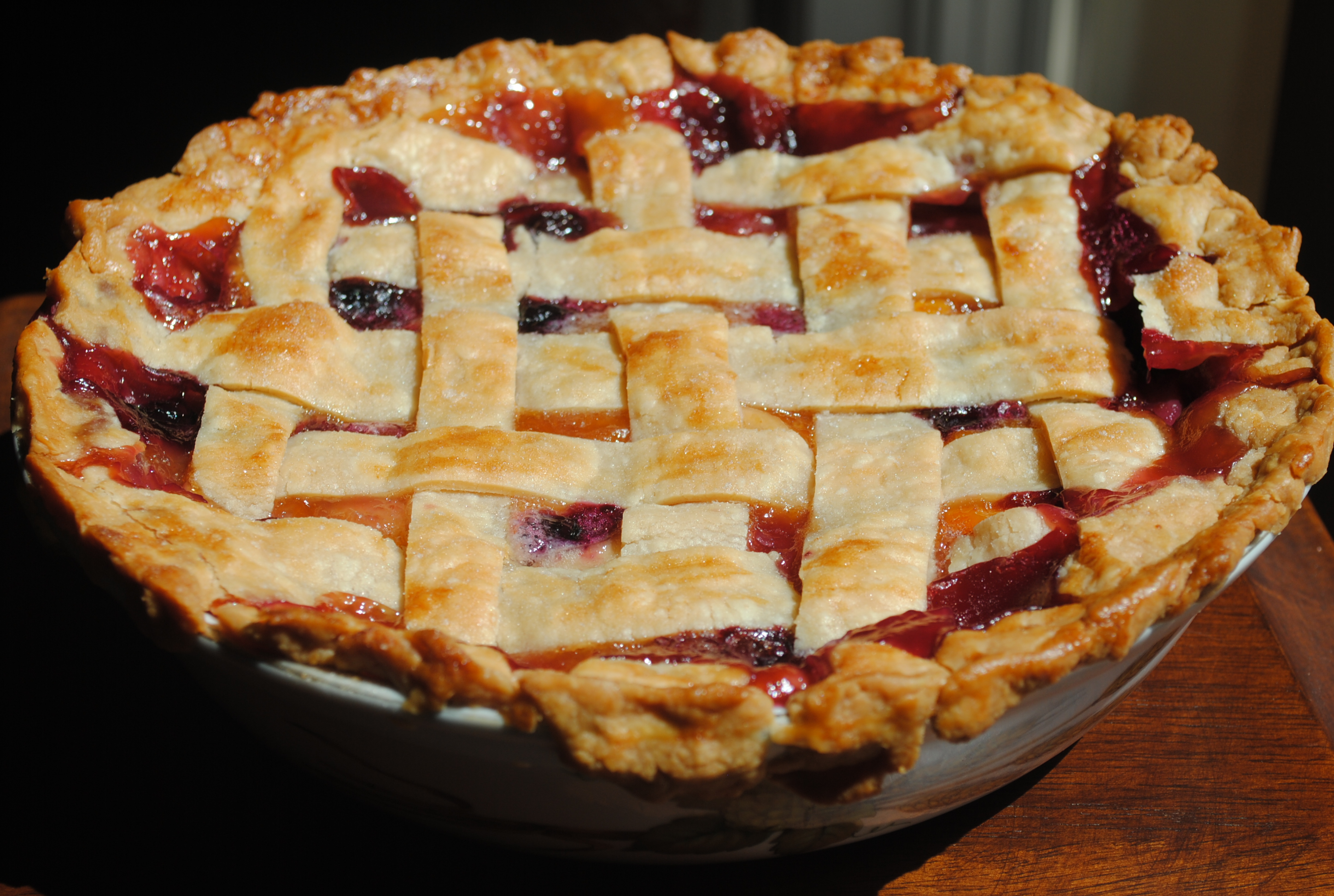 Peach & Blueberry Pie – Just For Licks